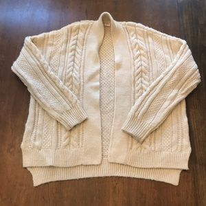 Gap Wool Blend Cable Knit Cardigan